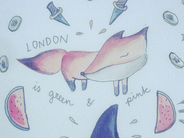 London is green & pink